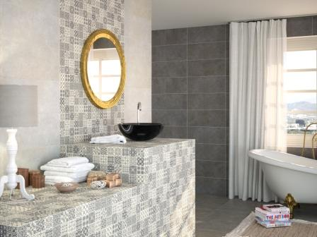 Mosaic effect tile ipswich ipswich bathroom and tile centre - Laura ashley barcelona ...